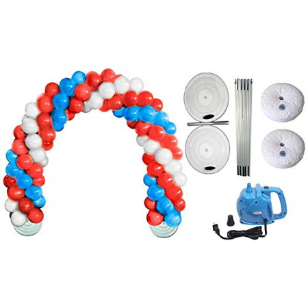 Deluxe DIY Professional Balloon Arch Kit (Patriotic Red, White and Blue) (1/Pkg) Pkg/1 - Balloon Crafts