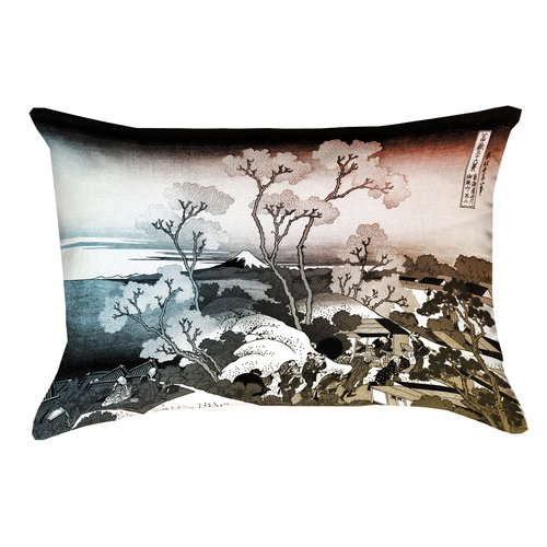 Bloomsbury Market Tulelake Cherry Trees Rectangular Lumbar Pillow