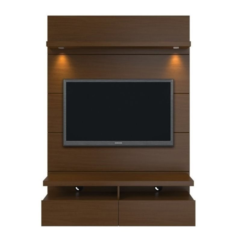 "Bowery Hill 47"" TV Stand in Nut Brown by Bowery Hill"