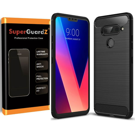 For LG V40 ThinQ Case, SuperGuardZ Slim Heavy-Duty Shockproof Protection Cover Armor Shield Guard + LED Stylus -