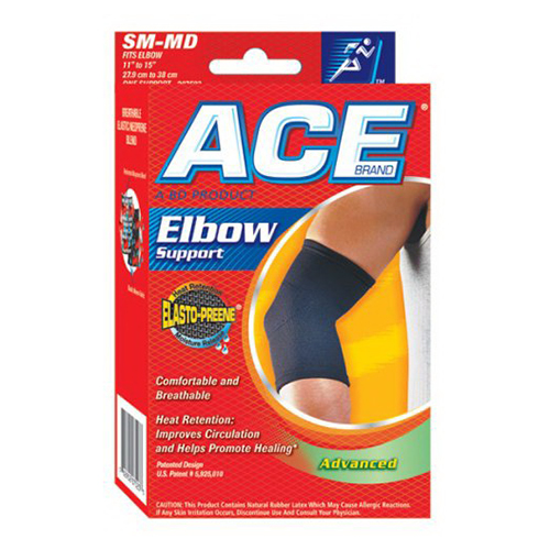 Ace Elasto-Preene Elbow Support Brace, # 207523, Small/Medium - 1 Ea