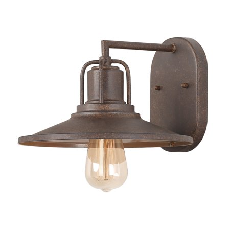 Rust Wall Lamp - LNC 1-Light Wall Sconces Rust Outdoor Wall Lamps Industrial Wall Lights Use E26 Bulb
