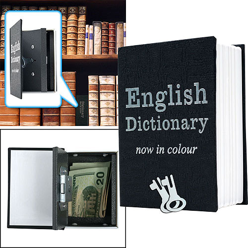 Trademark Mini Dictionary Diversion Book Safe with Key Lock, Metal