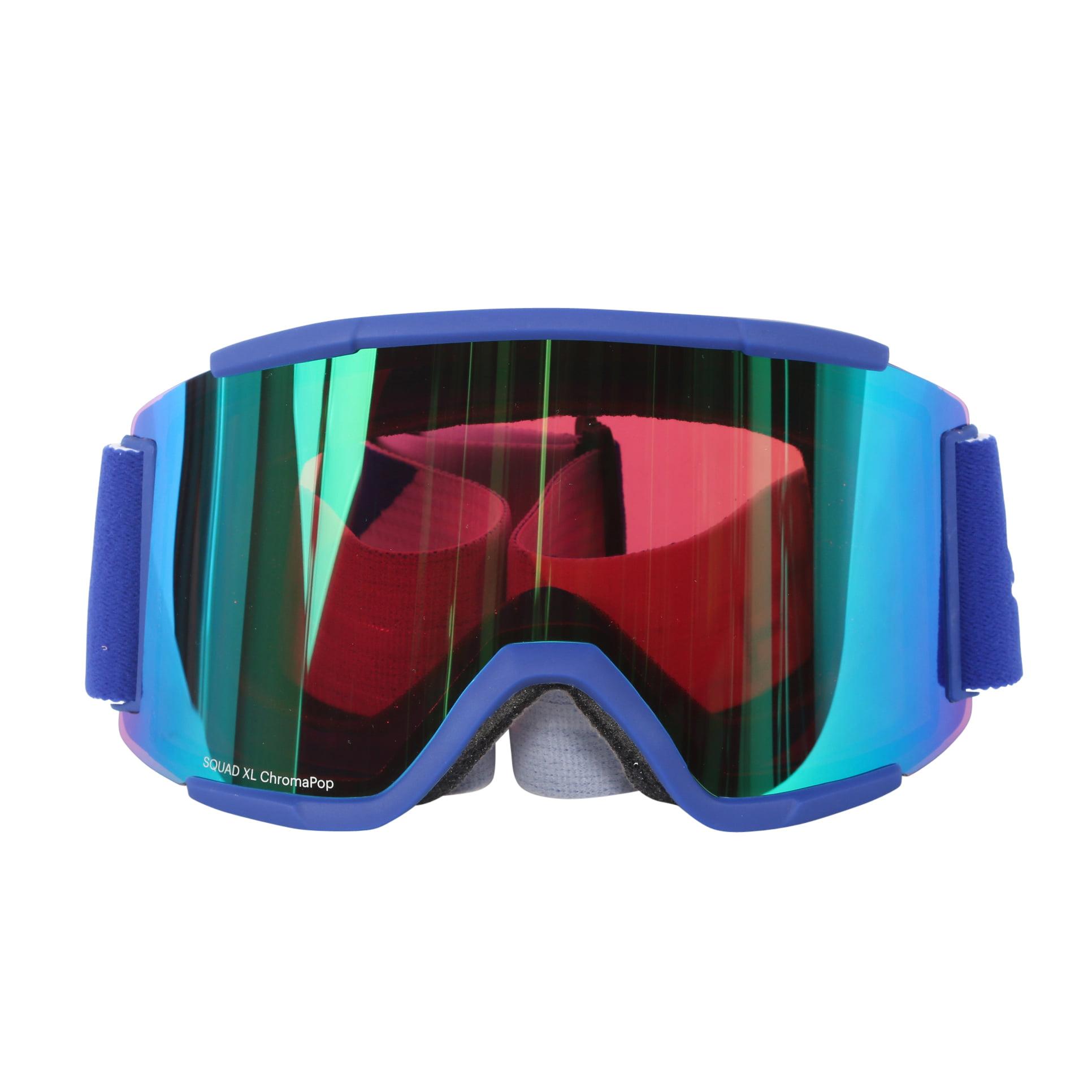 Smith Optics Klein Blue Split ChromaPop Everyday Squad XL Interchangeable Snow Goggles by Smith Optics