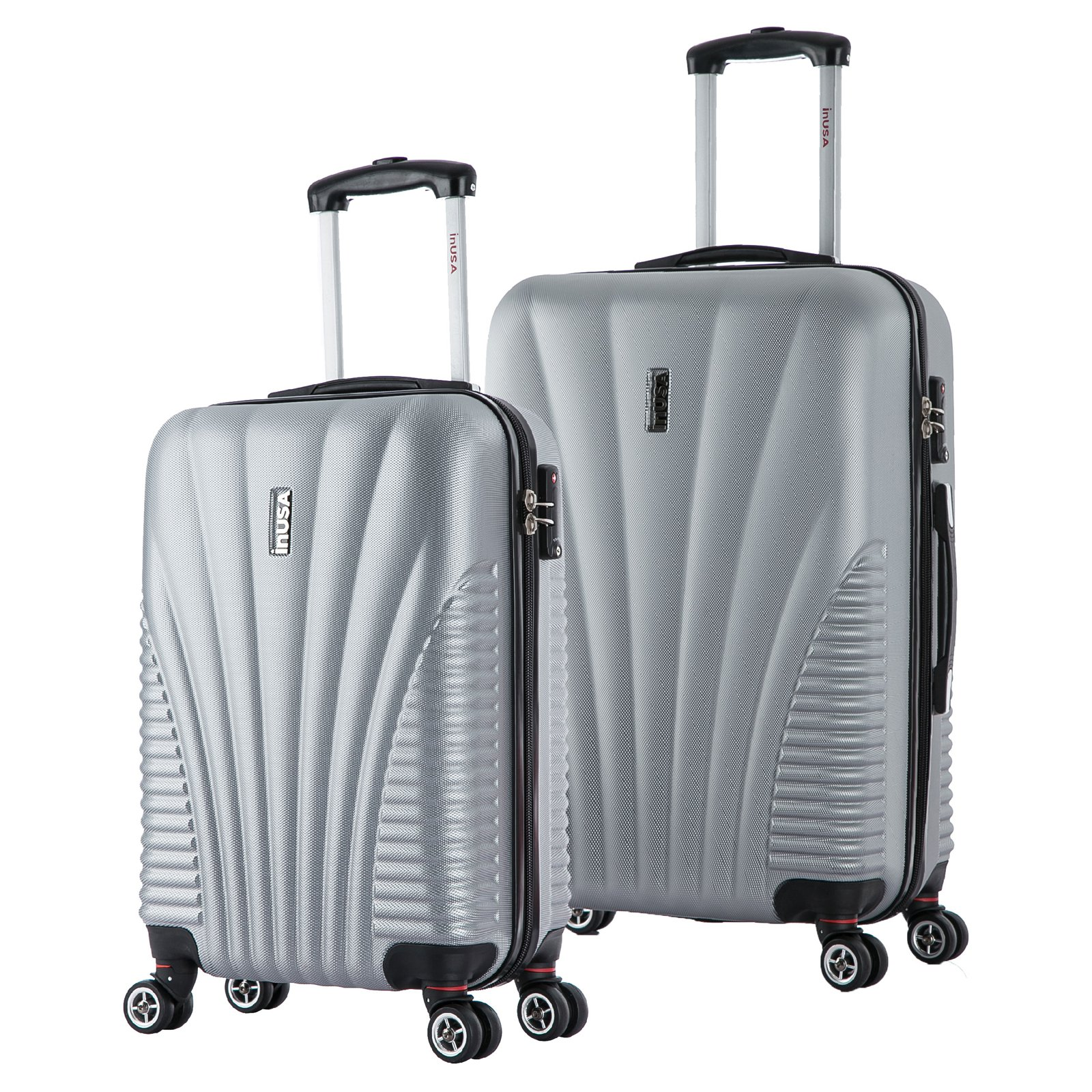 "InUSA Chicago Collection Lightweight Hardside Spinner 2-Piece Set, 21"",25"""