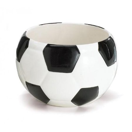Ceramic Soccer Ball Bowl Or Planter Great Candy Dish For Parties - Cool Halloween Candy Bowls