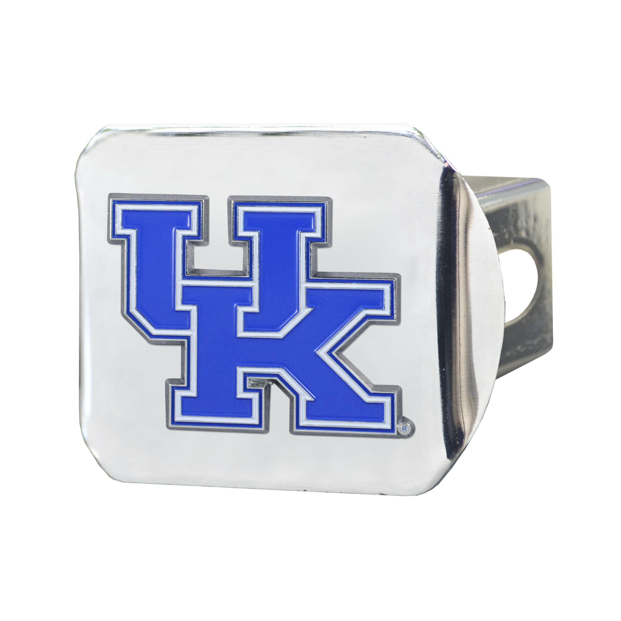 "University of Kentucky Color Hitch Chrome 3.4""x4"""