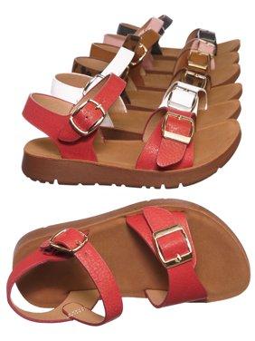 Reform9KA by Forever Link, Baby Toddler Comfort Flat Sandal - Unisex Infant Size Open Toe Shoe