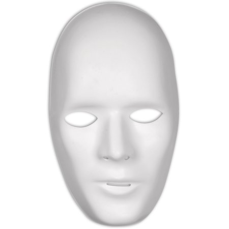 Loftus Men Male Plain Anonymous Matte PVC Face Mask, White, One-Size](White Mask For Sale)