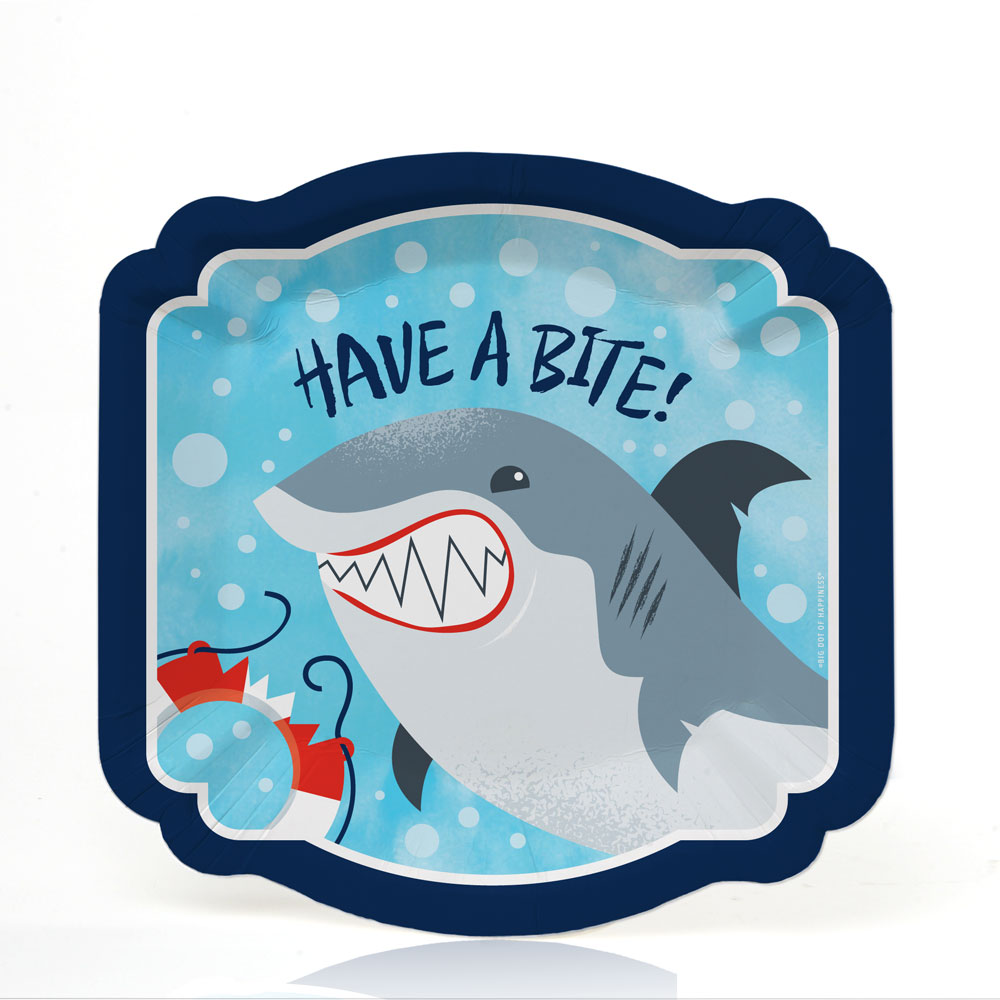 Shark Zone - Jawsome Shark Party or Birthday Party Dessert Plates (16 Count)
