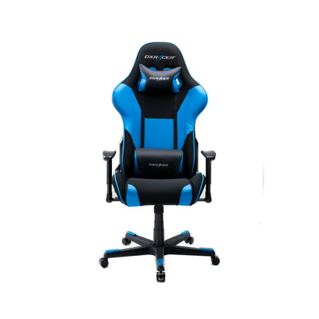 Long Back Chair - DXRacer Formula - OH/FD101/NB - High Back Reclining eSports Gaming Chair, Black/Blue