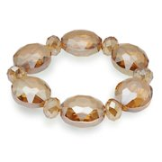 BLUE-BVG-CGS Vienna Gorgeous Glass Bracelet - Crystal Golden Shadow