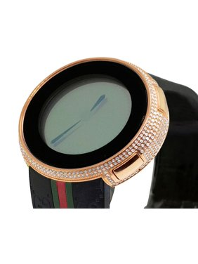 e2d741d1c55 Product Image I- Digital Black Rose Steel Diamond Watch 4.0 Ct YA114207.  Gucci