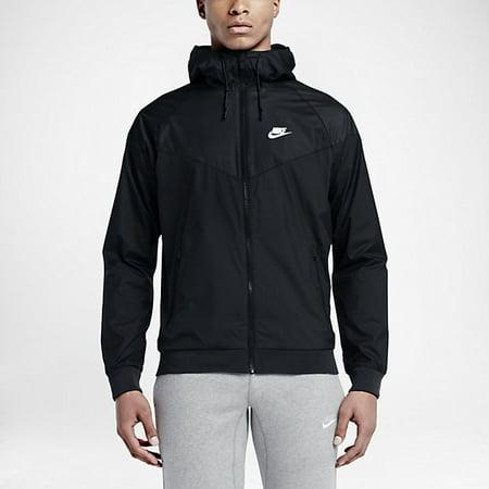 5b484b4a2c55 Nike - Nike Mens Windrunner Hooded Track Jacket Black Black White -  Walmart.com