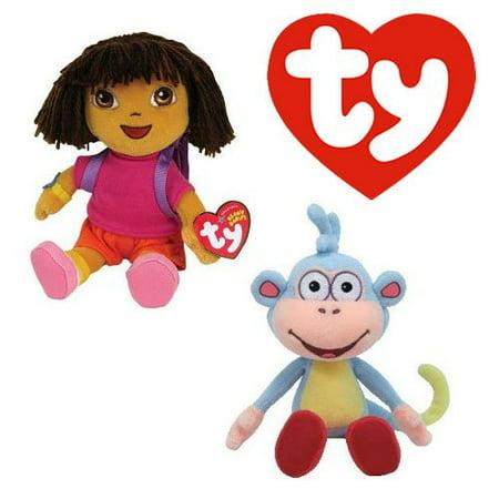 Cp New Ty Beanie Babies Baby (Dora & Boots) , Go Diego Go Dora the Explorer 6