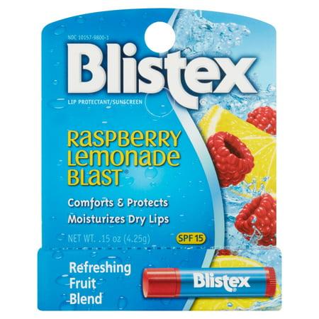 Spf 15 Passion Fruit (Blistex Raspberry Lemonade Blast Fruit Blend Lip Balm SPF 15, 0.15 Oz )