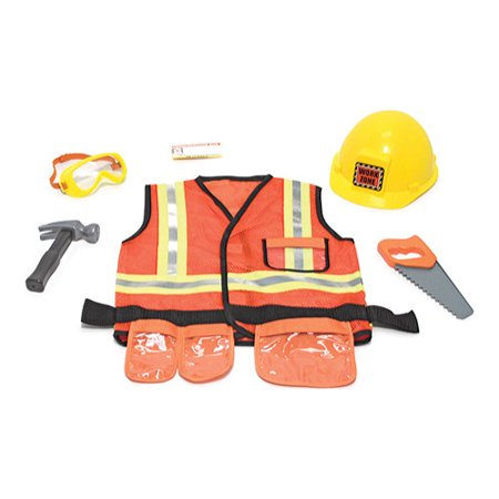 Children's Melissa & Doug Construction Worker Role Play Costume Set for $<!---->