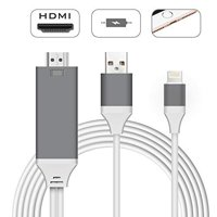 Compatible with iPhone iPad to HDMI Adapter Cable, 1080P Digital AV HDMI Adaptor Connector Cord for iPhone Xs Max XR X 8 7 6 Plus iPad Pro Air Mini iPod - Plug and Play(Red)