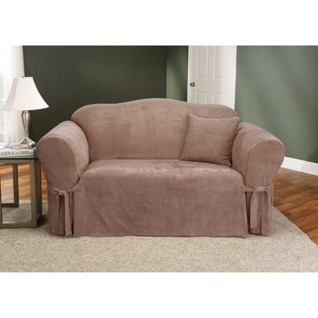 Sure Fit Soft Suede Sofa Slipcover, Sable ()
