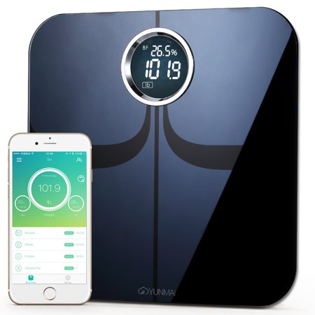 - #1 Smart Scale Brand--Yunmai Premium FDA Listed 2 Million Users Bluetooth Body Fat Scale & Body Composition Monitor with Free Fitness App and Extra Large Display