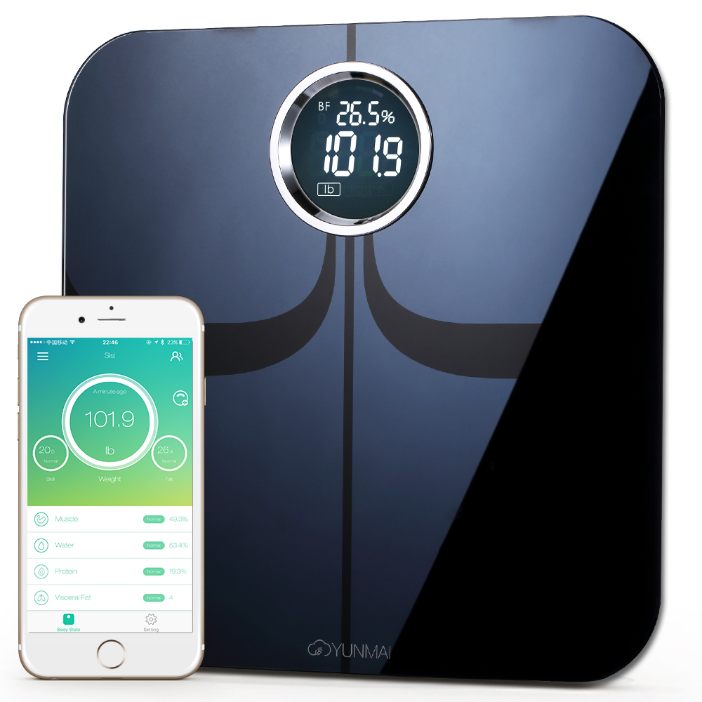 #1 Smart Scale Brand--Yunmai Premium FDA Listed 2 Million Users Bluetooth Body Fat Scale & Body Composition Monitor with Free Fitness App and Extra Large Display