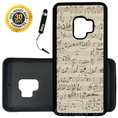 Custom Galaxy S9 Case (Mozart Piano Concerto No) Edge-to-Edge Rubber Black Cover Ultra Slim | Lightweight | Includes Stylus Pen by Innosub ()
