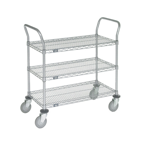 Nexel 3 Shelf Utility Cart with Pneumatic Casters