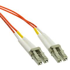 Plenum Fiber Optic Cable, LC / LC, Multimode, Duplex, 62.5/125, 1 meter (3.3 foot)