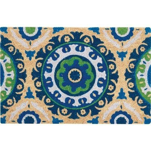 "Waverly Greetings ""Solar Flair"" Navy Doormat by Nourison"