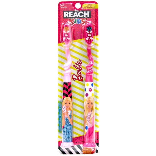 Reach Barbie Youth Soft Toothbrush, 2 count