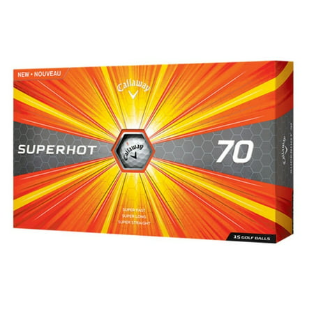 Callaway Golf Pre Owned (Callaway 2017 Superhot 70 Golf Balls, Prior Generation, 15 Pack)