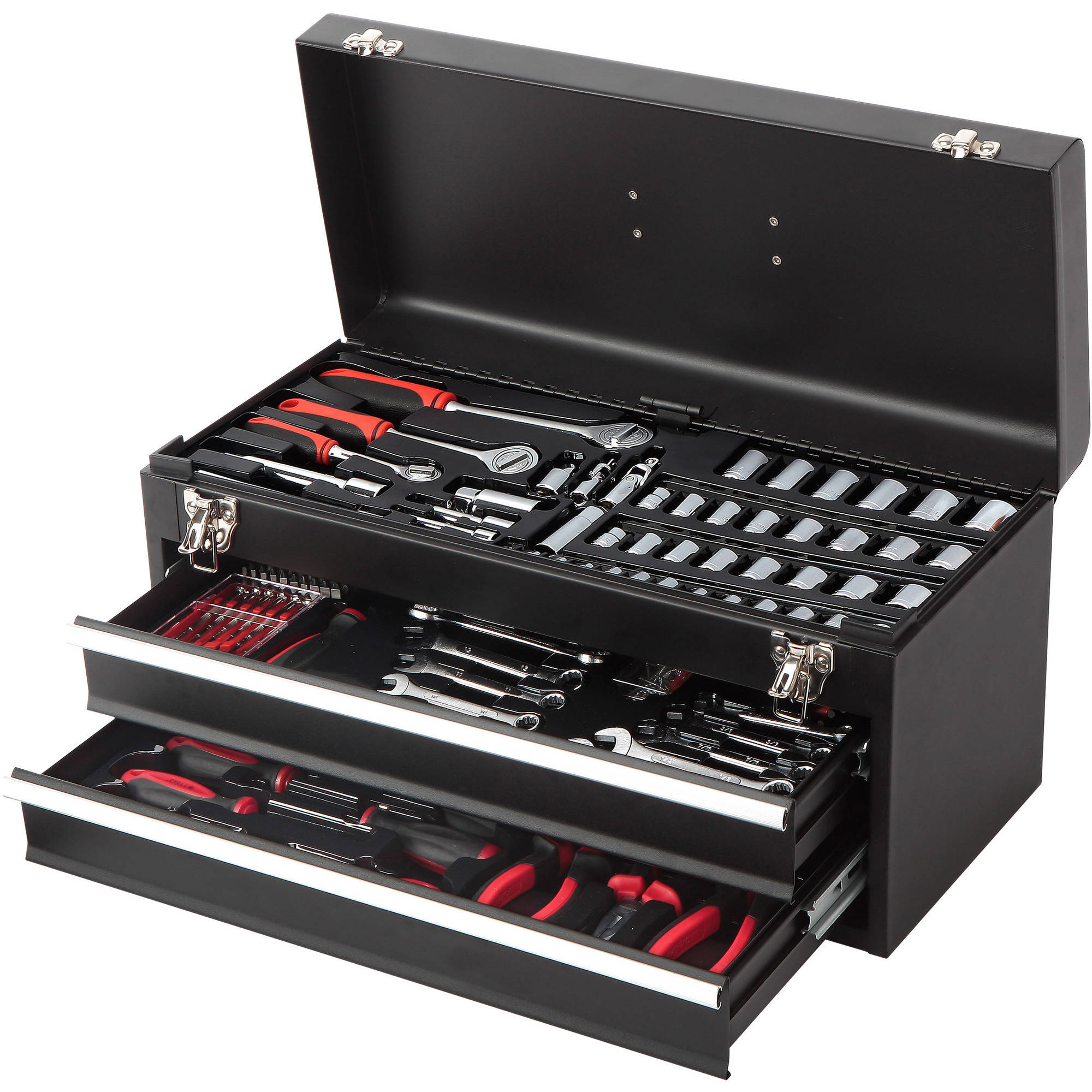 HyperTough 233-Piece 2-Drawer Tool Box Kit