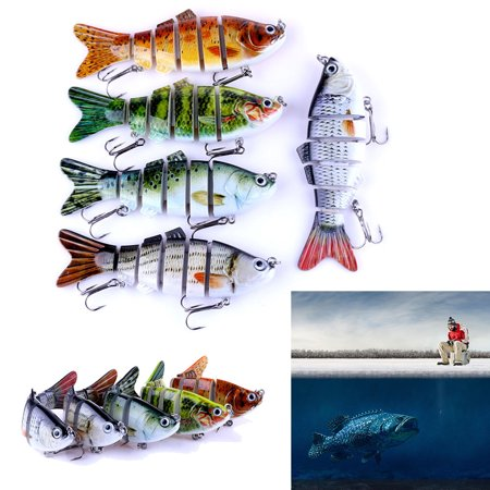 1 pc 6 Segment Swimbait Lure Crank bait Bait Hard Bait Fishing Lure thumbnail