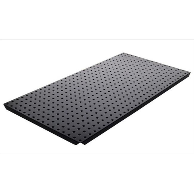 Alligator Board ALGBRD16x32PTD-BLK Black Powder Coated Metal Pegboard Panels with Flange - Pack of 2