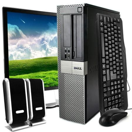 Duo Display - Dell Optiplex 960 Desktop Intel Core 2 Duo 3.0GHz 8GB RAM 1TB HDD DVD-ROM Windows 10 Professional 19'' Display Keyboard Mouse Speaker WiFi