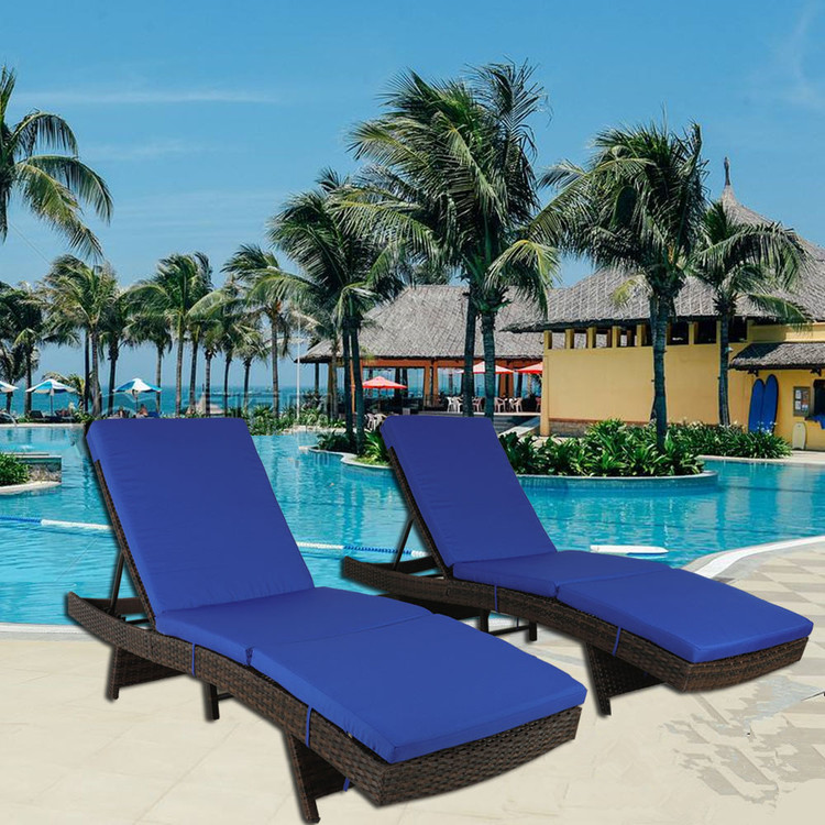 Rattan Chairs Patio Lounger