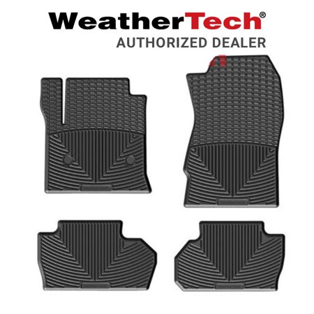 WeatherTech All-Weather Floor Mats Fits 2014-19 Chevrolet Silverado 1500 - Black 1500 Weathertech Rear Floor
