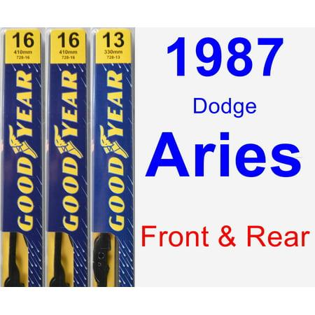 1987 Dodge Aries Engine - 1987 Dodge Aries Wiper Blade Set/Kit (Front & Rear) (3 Blades) - Premium