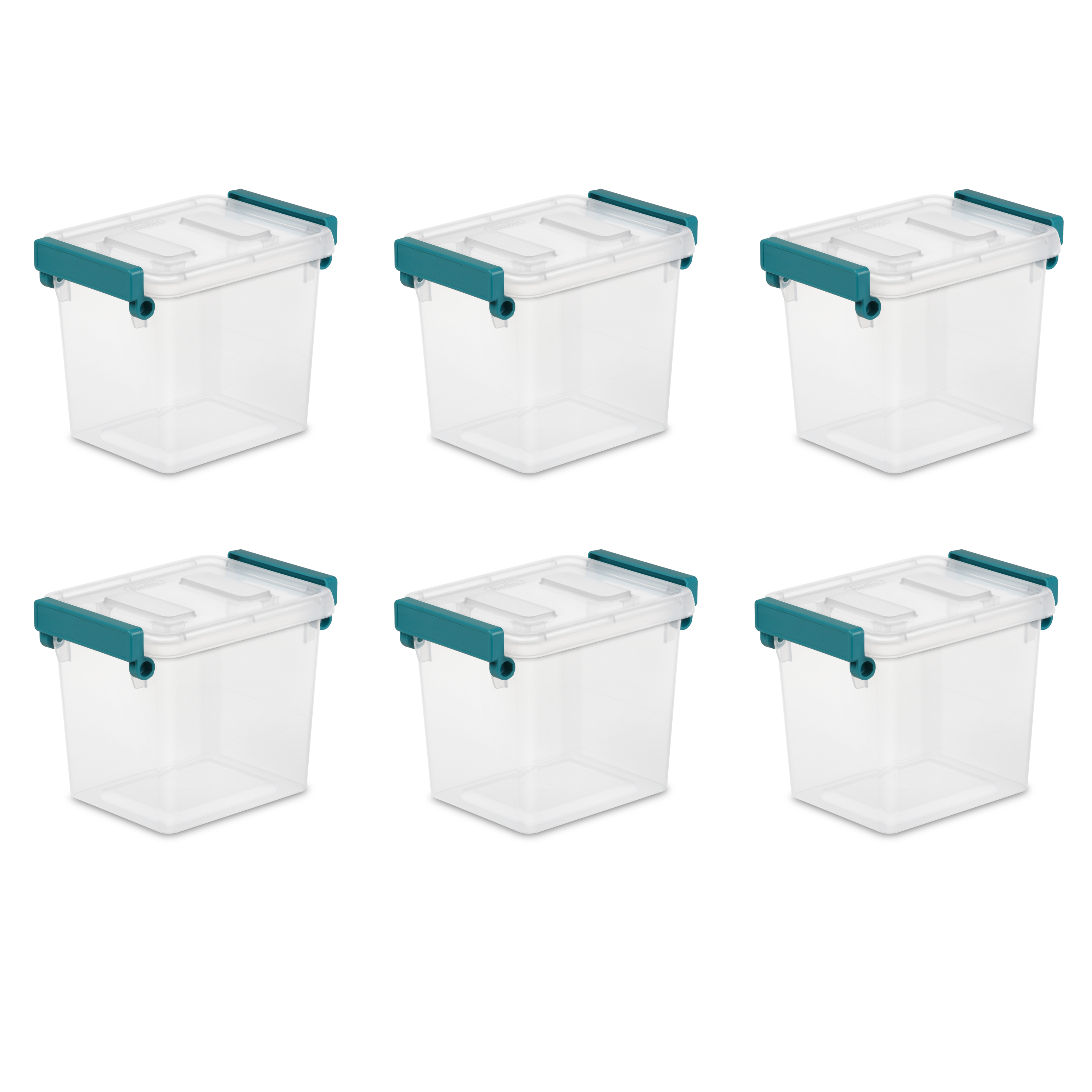 Sterilite, 2.5 Qt./2.4 L Modular Latch Box, Case of 6