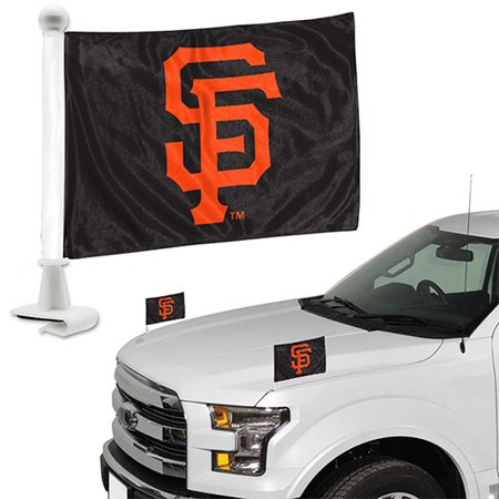 - San Francisco Giants Auto Ambassador Flag Set - No Size