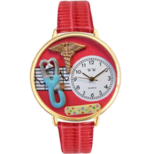 Whimsical Gifts G-0620053 Nurse 2 Red Watch In Gold Large