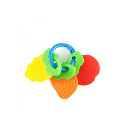 Lavaport Baby 3 Friut Shape Silicone Teething Toys with Chew Rings For Infant Newborn
