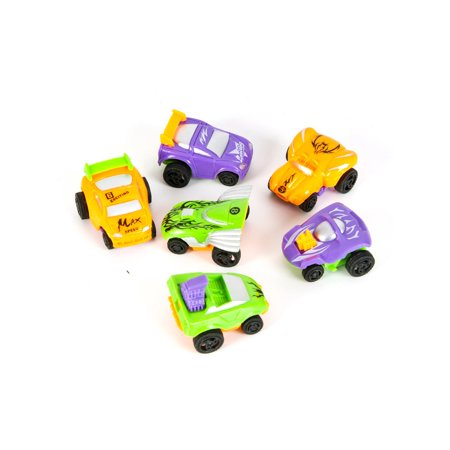 12 Count Two Tone Pull Back Toy Racecars