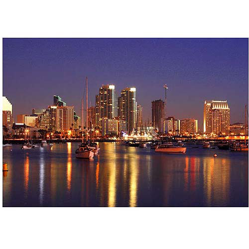 """Trademark Fine Art """"San Diego, CA"""" Canvas Art by Yakov Agani"""
