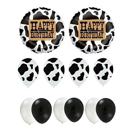 Happy Birthday Cow Party Balloon Set](Cow Print Balloons)