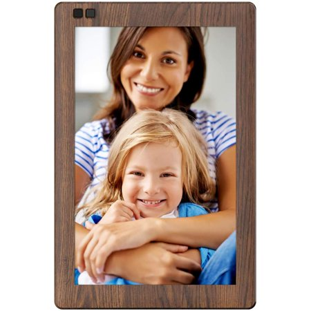 Nixplay Seed 10.1 inch Widescreen Digital WiFi Photo Frame with IPS Display, iPhone & Android App and Hu-Motion Sensor (Wood (Best Camera Effects App For Iphone)