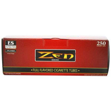 1 Box - 250pc King Size Full Flavor Cigarette Tubes..., By Zen Ship from US