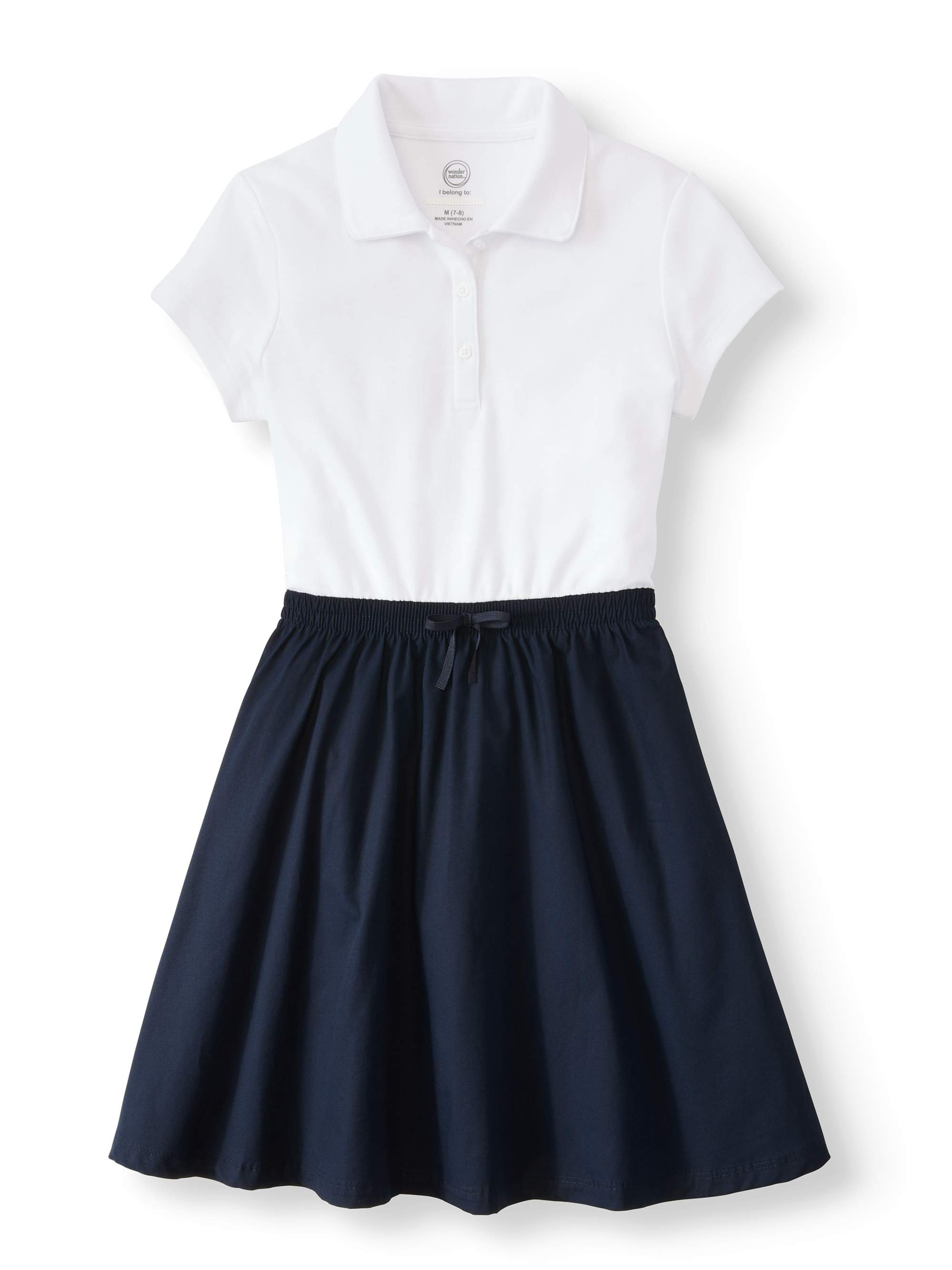 Girls School Uniform 2-fer Dress