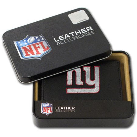 NFL Mens New York Giants Embroidered Trifold Wallet by