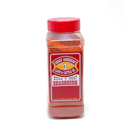 Seasoning Canister (Great American Land & Cattle Steak Seasoning Chef Size, 32 oz)